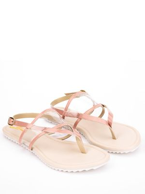 Yellow Soles Clear Strap Flat Sandals