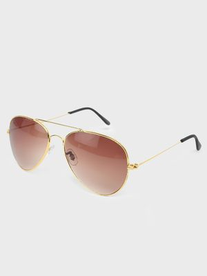 Fuzoku Brown Pilot Sunglasses