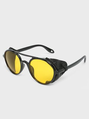 Fuzoku Black Frame Side Protection Sunglasses