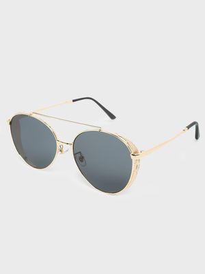Fuzoku Sleeker Golden/Black Pilot Sunglasses