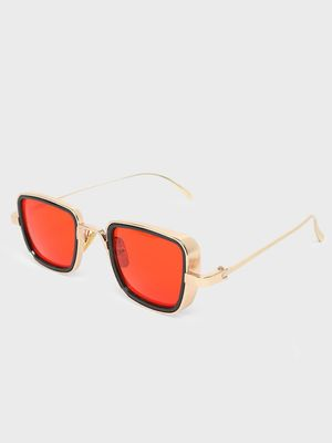Fuzoku Golden Metal Frame Stunner Sunglasses