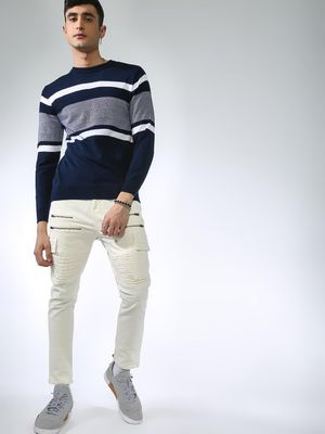MASH UNLIMITED Multi-Color Horizontal Stripe Sweatshirt
