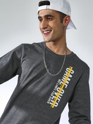 MASH UNLIMITED Slogan Print Slim Fit Sweatshirt