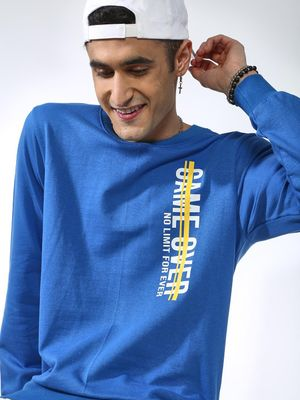 MASH UNLIMITED Slogan Print Crew Neck Sweatshirt