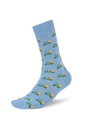 Mint & Oak Auto Print Calf-Length Socks
