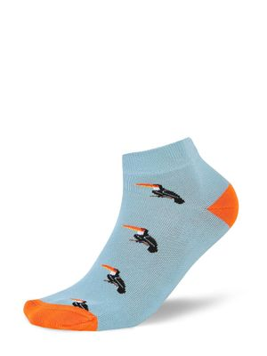 Mint & Oak Woodpecker Bird Print Ankle Socks