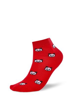 Mint & Oak Panda Print Ankle Length Socks