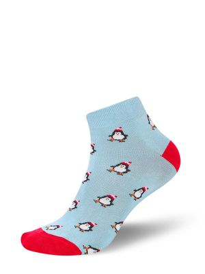 Mint & Oak Penguin Ankle Socks