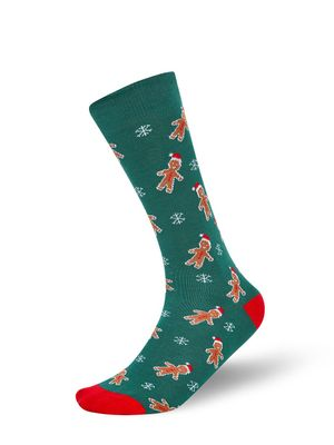Mint & Oak Gingerbread Man Crew Socks
