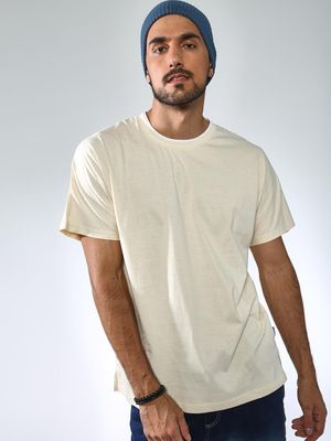 Blue Saint Basic Round Neck Casual T-shirt
