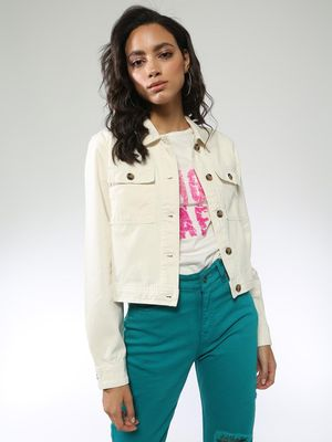 Blue Saint Regular Fit Crop Jacket