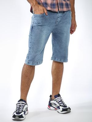 Blue Saint Light Wash Denim Shorts