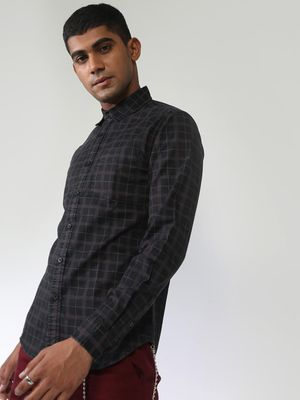 Blue Saint Multi Check Slim Shirt