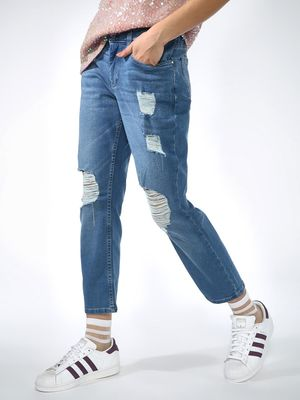 Blue Saint Distressed Ripped Slim Fit Jeans
