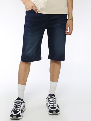 Blue Saint Dark Wash Distressed Shorts