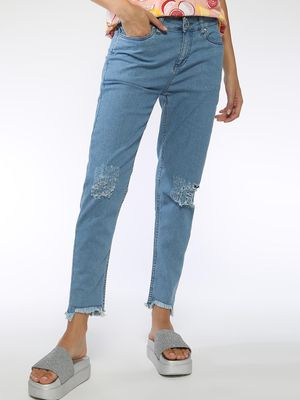 Blue Saint Knee Ripped Slim Jeans