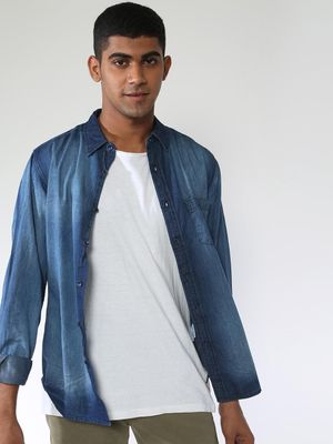 Blue Saint Mid Wash Denim Shirt