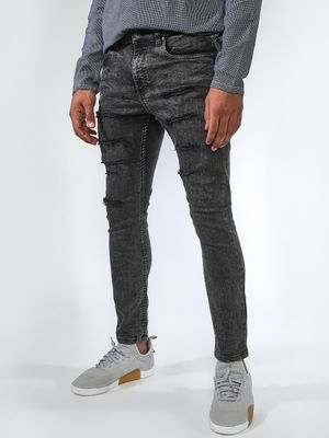Blue Saint Acid Wash Distressed Skinny Jeans