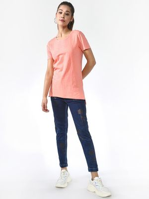 Blue Saint High-low Hem Top