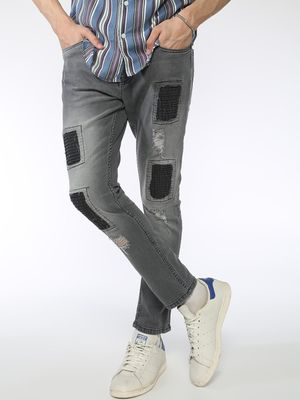 Blue Saint Contrast Patch Slim Jeans