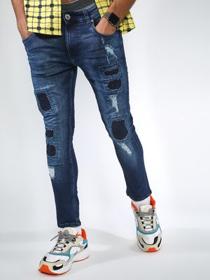 Blue Saint Sew Patch Ripped Jeans