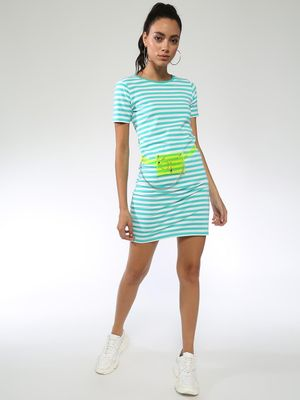 Blue Saint Stripes Bodycon Dress