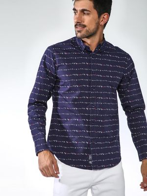 Blue Saint Printed Casual Shirt