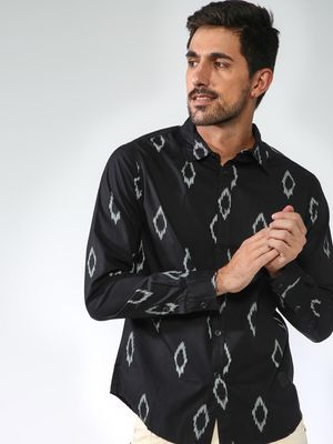 Blue Saint Printed Full Sleeve Causal Shirt