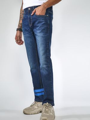 Blue Saint Two Stripe Wash Jeans