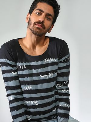 Blue Saint Stripes Long Sleeves T-Shirts