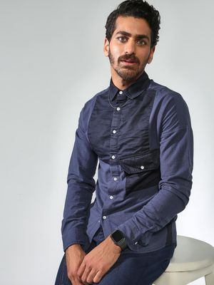 Blue Saint Asymmetric Patch Pocket Shirt
