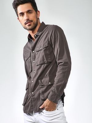 Blue Saint Patch Pocket Slim Shirt