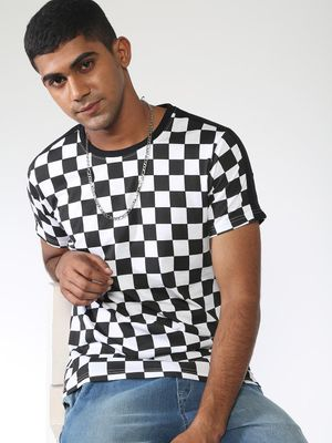 Blue Saint Side Tape Checkerboard T-Shirt