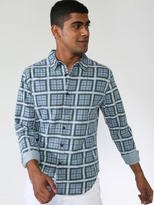 Blue Saint All Over Print Long Sleeve Shirt