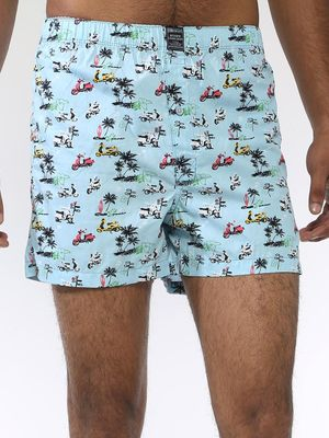 Blue Saint Printed Boxer Shorts