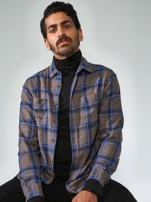 Blue Saint Casual Check Shirt