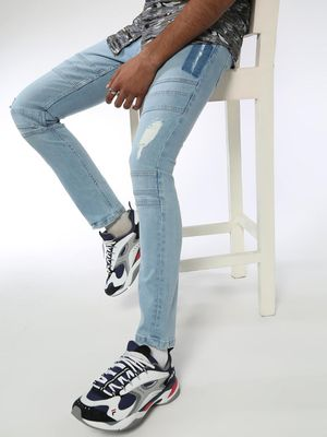 Blue Saint Light Wash Distressed Jeans