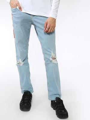 Blue Saint Ripped Slim-fit Denim Jeans