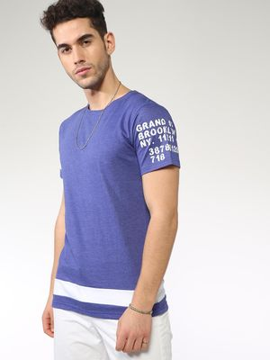 Blue Saint Hem Stripe Regular Fit Tshirts