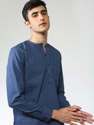 Blue Saint All Over Print Slim Fit Shirt