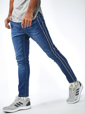 Blue Saint Side Tape Distressed Jeans