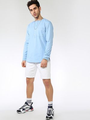 Blue Saint Basic Mandarin Collar Shirt