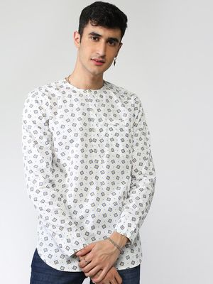 Blue Saint Round Neck All-over Shirt