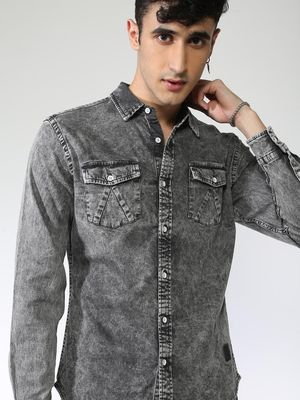 Blue Saint Stone Wash Twin Pocket Shirt