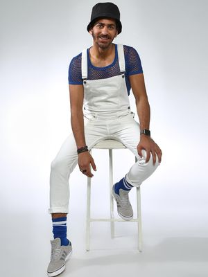 Sheltr Full Length Slim Fit Denim Dungarees