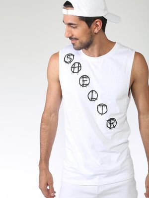 Sheltr Diagonal Text Placement Tank