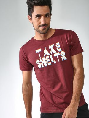 Sheltr Take  Text Print Tshirts