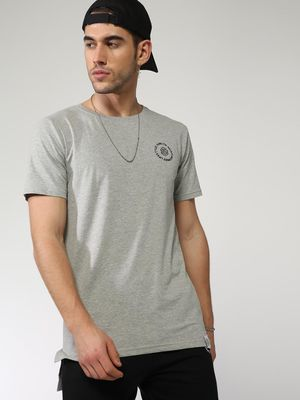 Sheltr Basic High-Low Hem Short Sleeves T-shirt