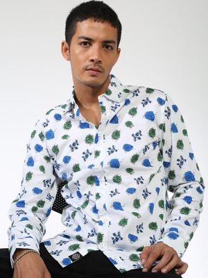 Sheltr Floral Print Slim Fit Shirt