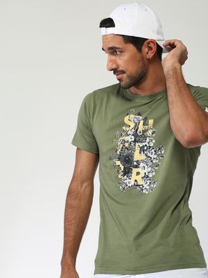 Sheltr Floral Text Placement Casual T-shirt